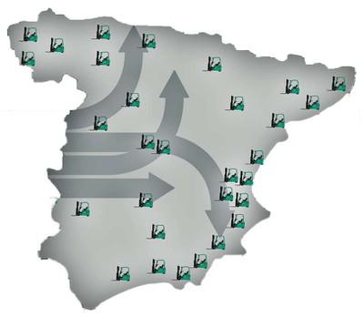 Red comercial  en España